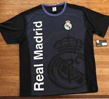 New! Real Madrid T Shirt Embroidered Patch On Chest Sz Large