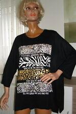WoW Shirt Top Bluse Tunika in Schwarz Marke Janina ; div. Größen