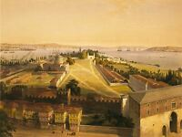 PAINTINGS LANDSCAPE ISTANBUL CONSTANTINOPLE TOPKAPI TURKEY HAGHE POSTER LV3209