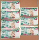 Singapore 3rd series of Currency, the Ship series, 7 running numbers, $5 notes