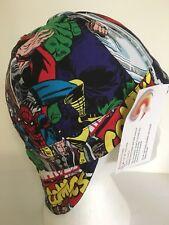"""Welder cap by Janice 24""""/61cm, AUSSIE MADE, NO BUCKLES, SOFT BRIM Marvel Hero"""