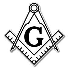 Masonic Freemason Compass Car Laptop Phone Vinyl Sticker  - SELECT SIZE