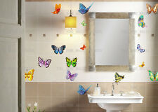 17 Multicolour Butterfly Wall Stickers Art Decal Vinyl Home Decor Transparent