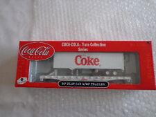 COCA COLA ATHEARN 1/87 SCALE 50'FLAT CAR W/ 40' COKE TRAILER #1 OF 3