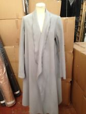 Ladies Grey Duster Waterfall Wrap Long Coat - UK S