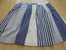 BODEN GREAT LOOKING =# Florence Skirt - Navy/Cream Hotchpotch -size 12 reg bnwot