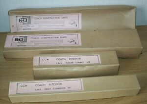 O GAUGE -  CCW - 2 x COACH KITS WITH KIT INTERIORS  - WOOD - SEE DETAILS