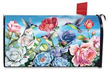 Hummingbird and Roses Spring Magnetic Mailbox Cover Standard Briarwood Lane