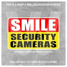 Vinyl Sticker Decal - Security Camera SMILE (x2) 5x3 - Warning Caution CCTV
