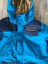 Burton Dryride DHAKA Snowboard Ski Jacket Boys Youth XL BLUE Turquoise Jacket