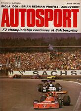 Autosport 6 Jun 1974 - Mid Ohio F5000 Redman, Imola 1000 Kms Matra, Salzburgring