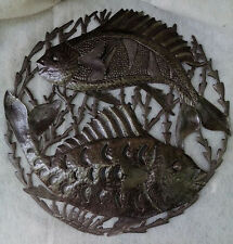 Two Fishes Wall Decor Haitian Metal Drum Art Online Home Decor Shopping Size 24""