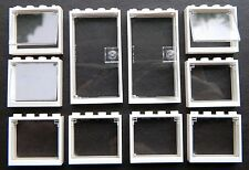 Lego Office Windows Doors (pack of 10) 1x4x3 White Glass Clear Police Hospital