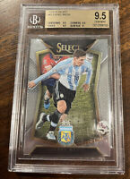 2015-16 PANINI SELECT SOCCER #65 LIONEL MESSI STRIPED JERSEY BGS 9.5 GEM MINT