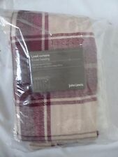 Ludlow Check Lined Eyelet Curtains, Red W167cm D137cm