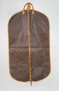 Louis Vuitton LV Monogram Hanging Zip Up Garment Bag 2 Hangers