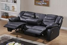 Voll-Leder Fernsehsessel Relaxsofa Sofa Relaxsessel mit Tisch 5116-3-S