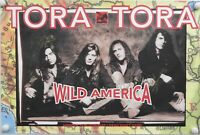 Tora Tora JSA Signed Autograph Promo Poster Full Band Wild America