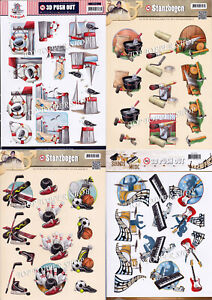 Male Themes Die Cut Decoupage Choice of 23 Push Out Sheets