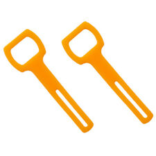 New listing 2pcs Orange Silicone Regulator Octopus Holder Strap Scuba Diving Accessories