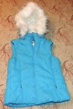 Nw/oT CHILDREN'S PLACE GIRLS LIGHT BLUE HOODED SPARKLE VEST Sm (5/6) - OUTDOOR
