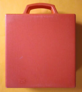 Valigetta Porta Musicassette Plastica Rossa 24 Posti Usata Originale Vintage mc