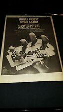 Judas Priest British Steel Rare Original U.K. Promo Poster Ad Framed!