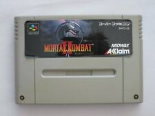 Super Famicom Mortal Kombat  II 2 Japan SFC SNES