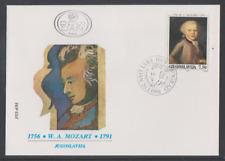 Jugoslawien 1991  FDC Mi Nr: 2472  200. Todestag von Wolfgang Amadeus Mozart