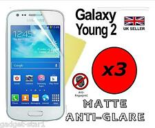 3x Hq Mate Anti Glare Screen Protector Tapa Protector Para Samsung Galaxy Young 2
