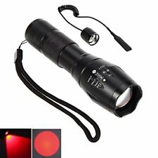 CentBest LED Flashlight Red Beam Cree Zoom Adjustable Focus Torch for Hunting Ta