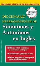Diccionario Merriam-Webster De Sinonimos Y Antonimos En Ingles-ExLibrary