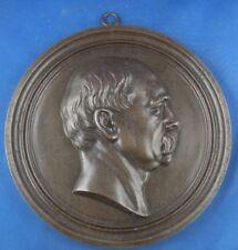"""Eisenguss Plakette Relief Lauchhammer Bismarck  """"Eigenthum Lauchhammer"""""""