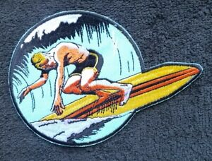 Old School PATCH Surfer HANG TEN Hawaii Collector Souvenir Sew On Patch
