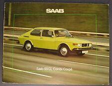 1976 Saab 99GL Catalog Sales Brochure German Text Excellent Original 76