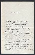 Prince Lucien Bonaparte Christmas Day Signed Letter 1878 to Eugénie de Montijo