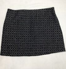 Willi Smith Pencil Skirt Women Size 8 Black Tweed Boucle Lined Workwear Career