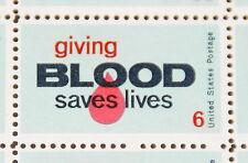 1971 sheet, Give Blood Sc # 1425