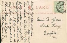 Miss N Green, Stoke Ferry, Norfolk 1908 - 'Fred' Ashford   QR786