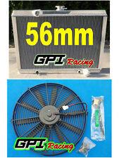 GPI new aluminum Radiator & fan for Mitsubishi Starion MT