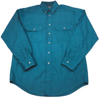 Vintage Woolrich Solid Button Down Long Sleeve Shirt, Size XL? (Tag Removed)