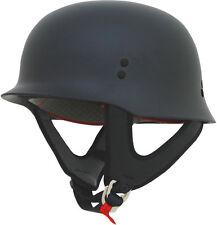 AFX FX88 German World War II Style Motorcycle Half Helmet (Flat Black) X-Large