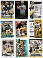 Green Bay Packers 100 Card Lot! Aaron Rodgers, Favre RC, Aaron Jones RC,Adams RC