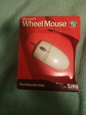 Microsoft Wheel Mouse Wired PS/2 X08-70343 White New Old Stock In Orig. Packging