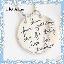 LEARN FROM YESTERDAY, LIVE FOR TODAY, HOPE FOR TOMORROW Pendant necklace