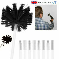 UK Drill Powered Chimney Cleaning Kits Flue Brush Cleaner Fireplace Sweep Rotary