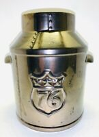 Vtg McCoy Iridescent Glazed Pottery Bicentennial #154 Liberty Bell 1976 Planter