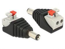 delock testadapter dc 5,5 x 2,1mm stecker an terminalblock mit drucktasten 2 pin