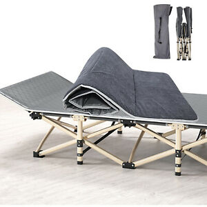 Camping Cot Folding Outdoor Cot with Carry Bag Folding Bed for Travel Camp Beach