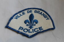 Canadian Ville De Granby Quebec Police Patch